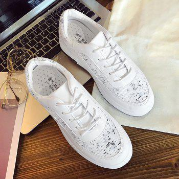 Printed Mesh Breathable Athletic Shoes - 37 37