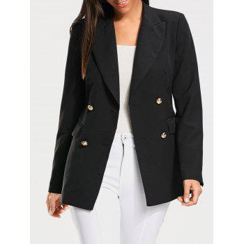Casual Double Breasted Plain Blazer