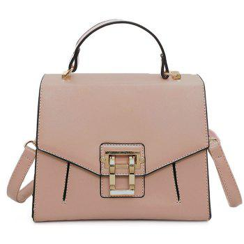 Faux Leather Rivets Metal Embellished Handbag - PINK PINK