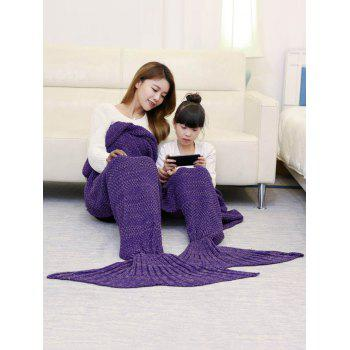 Knitted Mother and Daughter Mermaid Tail Blanket - 180*145CM 180*145CM