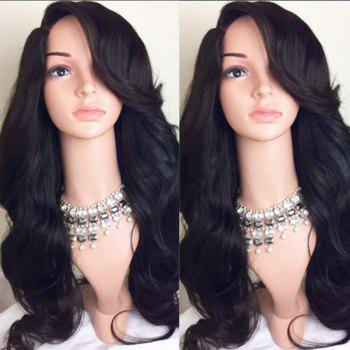 Long Deep Side Parting Wavy Synthetic Wig
