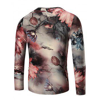 Water Lily Long Sleeve T-shirt - 3XL 3XL