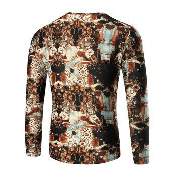 Machine Printed Long Sleeve T-shirt - COLORMIX COLORMIX