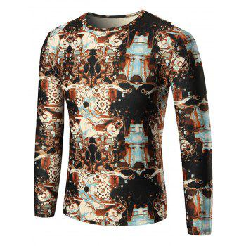 Machine Printed Long Sleeve T-shirt