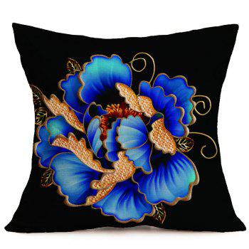 Floral Pattern Decorative Linen Pillow Case - COLORFUL W18 INCH * L18 INCH
