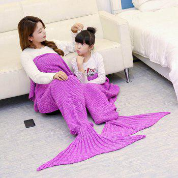 Knitted Mother and Daughter Mermaid Tail Blanket - ROSE MADDER ROSE MADDER