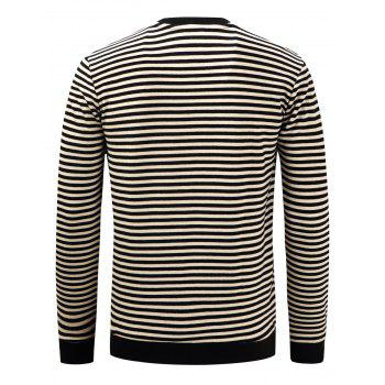 Long Sleeve Stripe Pullover Sweatshirt - M M