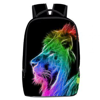 Rainbow Colored Lion Painted Backpack
