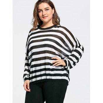 Plus Size Loose Drop Shoulder Knit Sweater - ONE SIZE ONE SIZE