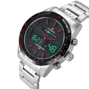 NAVIFORCE 9024 Luminous Tachymeter Quartz Digital Watch - RED
