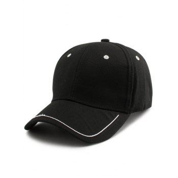 Letters Line Embroidered Baseball Cap - BLACK BLACK
