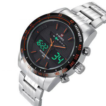 NAVIFORCE 9024 Luminous Tachymeter Quartz Digital Watch - Orange