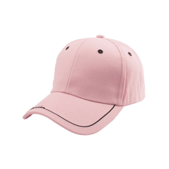 Letters Line Embroidered Baseball Cap -  PINK