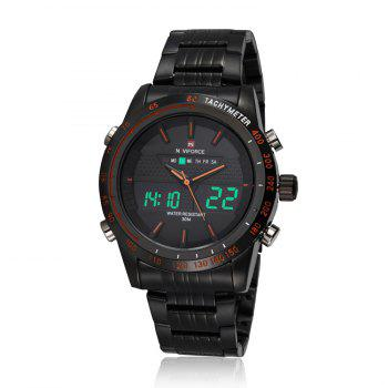 NAVIFORCE 9024 Tachymeter Luminous Analog Digital Watch