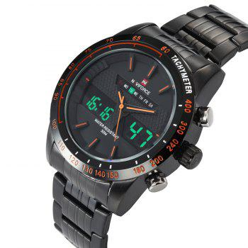 NAVIFORCE 9024 Tachymètre Luminous Analog Digital Watch - Orange