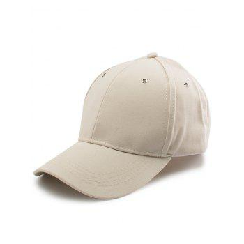 Letter Embellished Long Tail Baseball Cap - KHAKI KHAKI