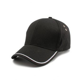 Line Embroidered Baseball Cap - BLACK BLACK