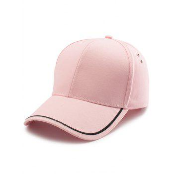 Line Embroidered Baseball Cap - PINK PINK
