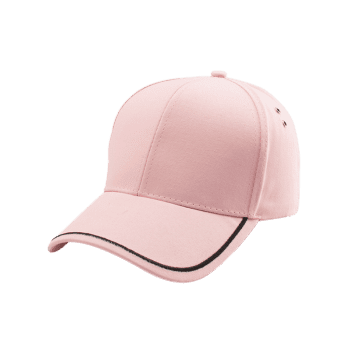 Line Embroidered Baseball Cap -  PINK