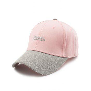 Letters Embroidery Two Tone Baseball Cap