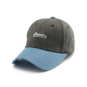 Letters Embroidery Two Tone Baseball Cap - GRAY GRAY
