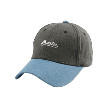 Letters Embroidery Two Tone Baseball Cap -  GRAY