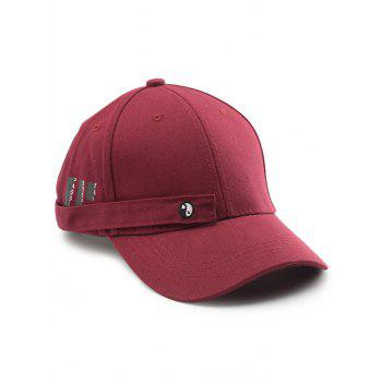 Tiny Rectangle Eight Diagrams Baseball Cap - WINE RED WINE RED