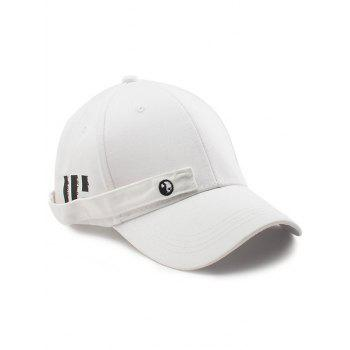 Tiny Rectangle Eight Diagrams Baseball Cap - WHITE WHITE