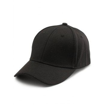 Letters Embroidery Back Baseball Cap - BLACK BLACK