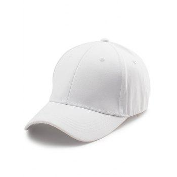 Letters Embroidery Back Baseball Cap - WHITE WHITE