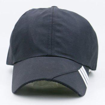 Stripe Embellished Baseball Hat -  BLACK