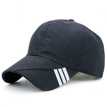 Stripe Embellished Baseball Hat - BLACK BLACK