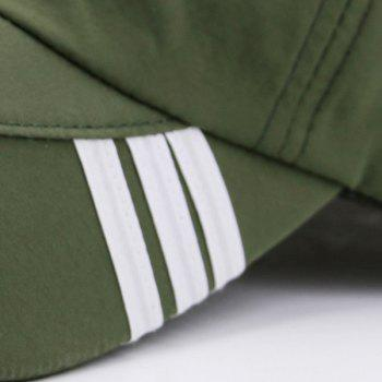Stripe Embellished Baseball Hat -  ARMY GREEN