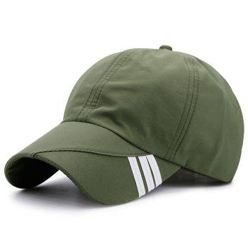Stripe Embellished Baseball Hat - ARMY GREEN ARMY GREEN