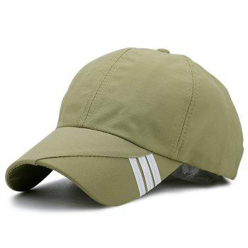 Stripe Embellished Baseball Hat - APPLE GREEN APPLE GREEN
