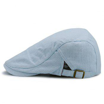Nostalgic Plaid Flat Cap - LIGHT BLUE LIGHT BLUE