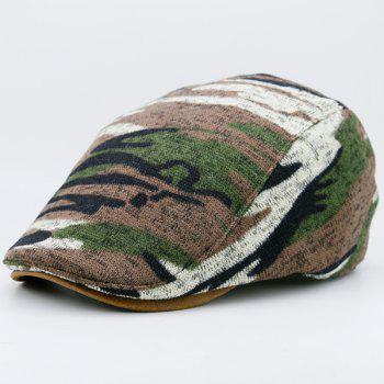 Versatile Camouflage Pattern Flat Hat - BROWN