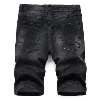 Shorts en denim Shred - Gris Noir 32