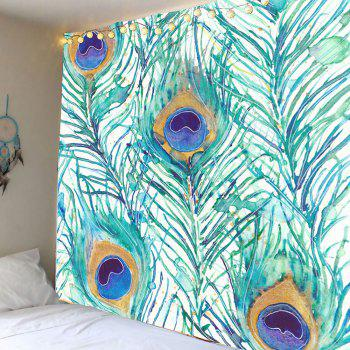 Peacock Feathers Pattern Wall Art Tapestry
