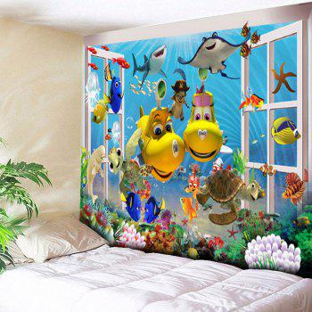 Sea World Animal Printed Wall Tapestry