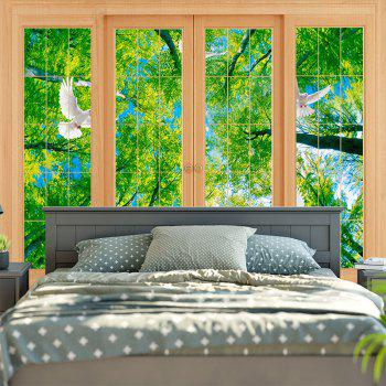 Wall Decor Window Scenery Printed Tapestry - W59 INCH * L59 INCH W59 INCH * L59 INCH