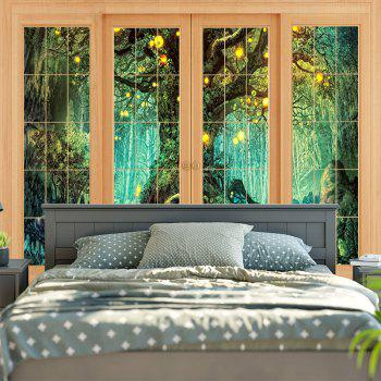 Wall Art Window Tree Print Tapestry - W79 INCH * L59 INCH W79 INCH * L59 INCH