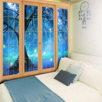 Bedroom Decor Window Life Tree Printed Tapestry - W79 INCH * L59 INCH W79 INCH * L59 INCH