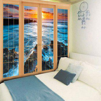 Wall Hanging Window Sea Pattern Tapestry - W79 INCH * L59 INCH W79 INCH * L59 INCH