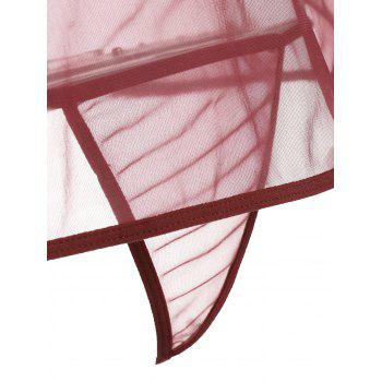 Mini Sheer Slip Lingerie Dress - S S