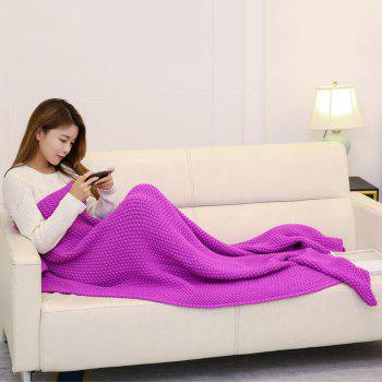 Handmade Crochet Bedding Sofa Throw Blanket - ROSE MADDER 110*160CM