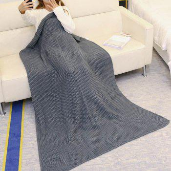Handmade Crochet Bedding Sofa Throw Blanket - GRAY GRAY