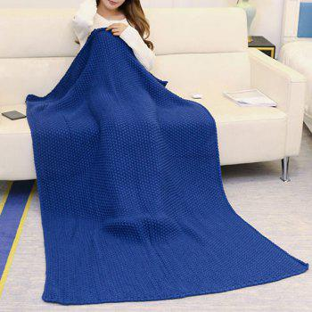 Handmade Crochet Bedding Sofa Throw Blanket - CADETBLUE CADETBLUE