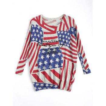 American Flag Plus Size Patriotic Knit Sweater
