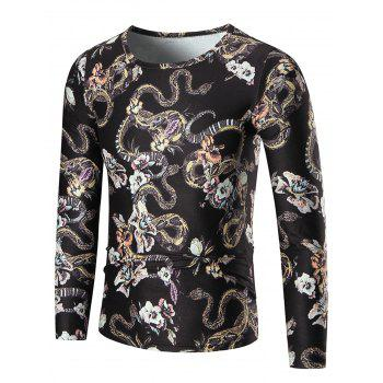 Boa Constrictor Long Sleeve T-shirt - COLORMIX 2XL